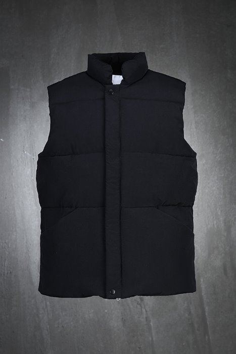 Simple two-way zipped padded vest