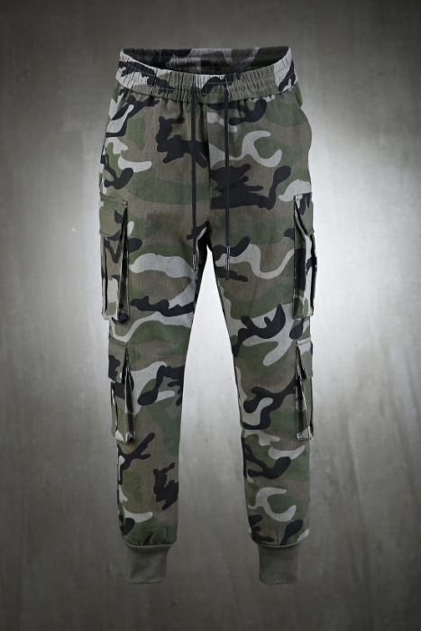 Military Cotton Banded Cargo Pants