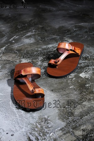 Asian Brown Knotted Sandals