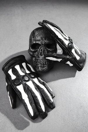 ByTheR Bones Detail Leather Gloves