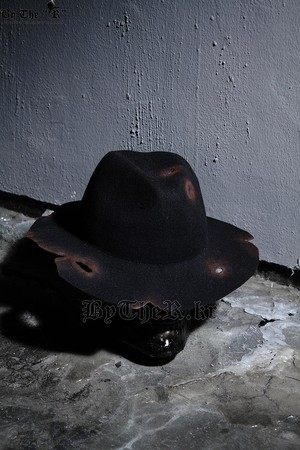 ByTheR Custom Burning Grunge Black Fedora