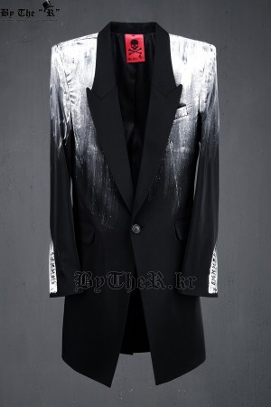 ByTheR Custom Printing Prada Slim Long Blazer