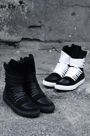 Multi Lace Leather High Top Sneakers(Restock 3/29)