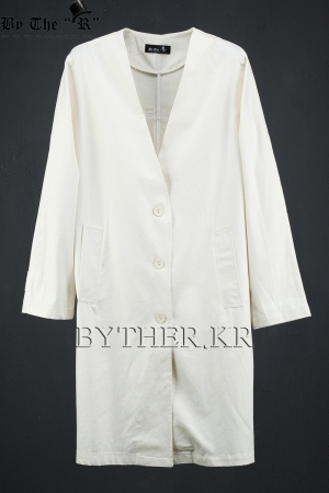 ByTheR Non-lapel Over-fit Long Jacket