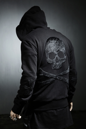 ByTheR Black Back Skull Hoodie