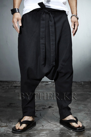 ByTheR Ankle String Linen Baggy Pants