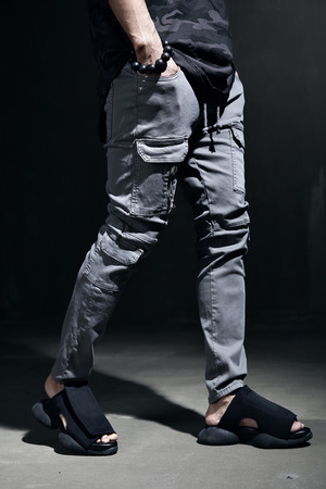 Washing Custom Detail Cargo Pocket Style Waistband Pants