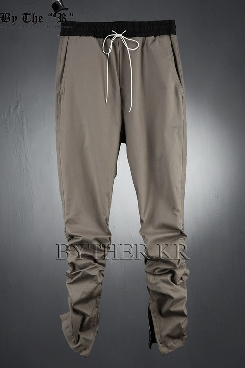 inside Zipper Shirring Pants