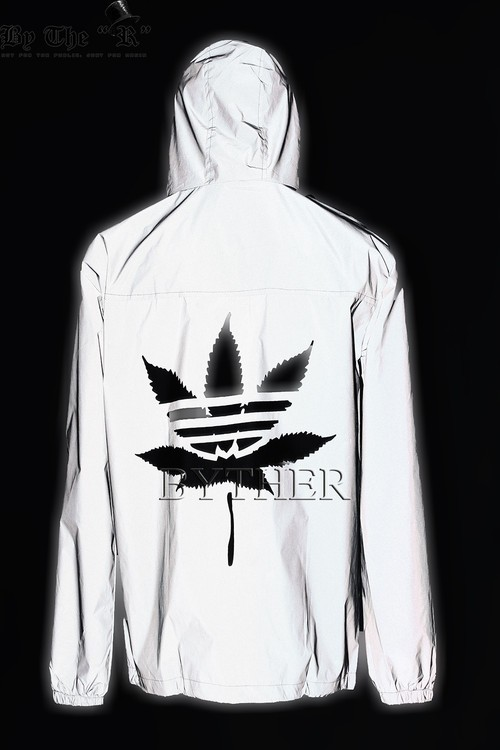Embroidered Leaf Bright Windbreaker