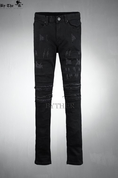 Scratched Grunge Skinny Jeans