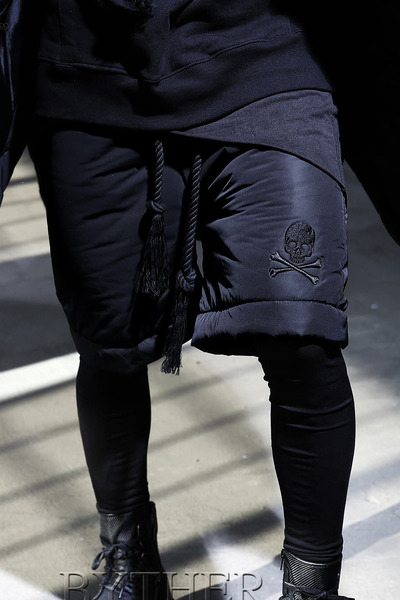 Skull Embroidery Padding pants