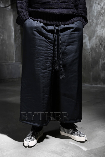 Padding Rope Loose Pants