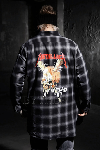 Metallica Long Check Shirts