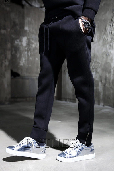 Ankle Zip Neoprene Jogger Pants
