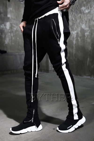 Side White Line Jogger Pants
