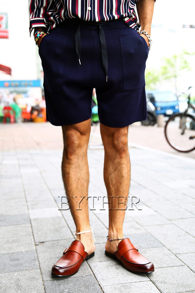 ByTheR Pocket Line Knit Shorts