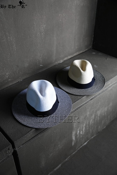 ByTheR Two-tone Panama Straw Fedora