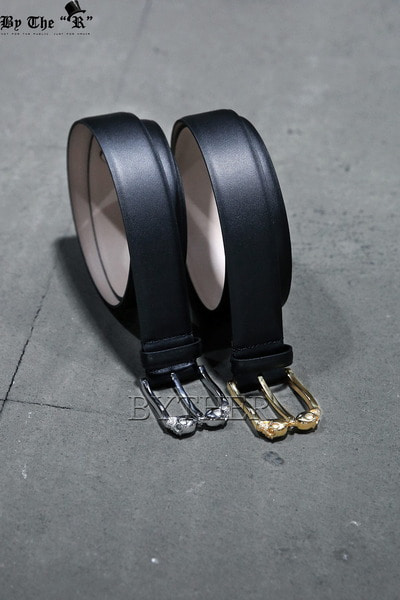 Double Skull Leather Belt