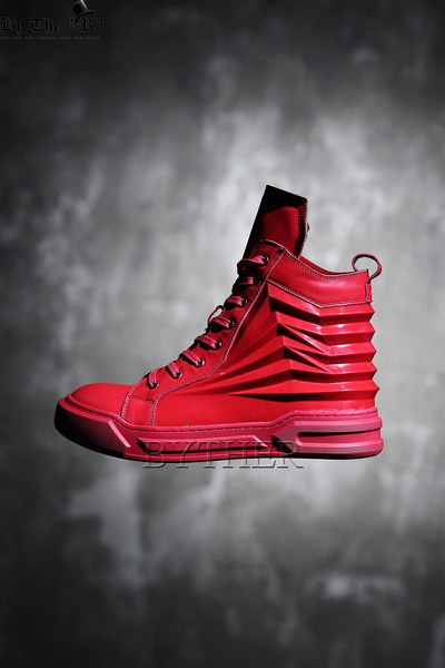 Pleats High-Top Sneakers
