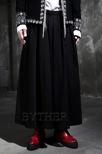 ByTheR Dark Wide Long Skirt
