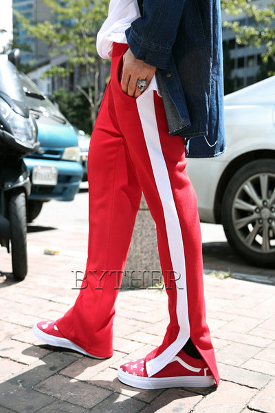Side Vent Color line pants