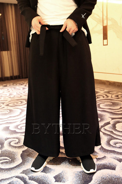 ByTheR Belt Banding Wide Pants