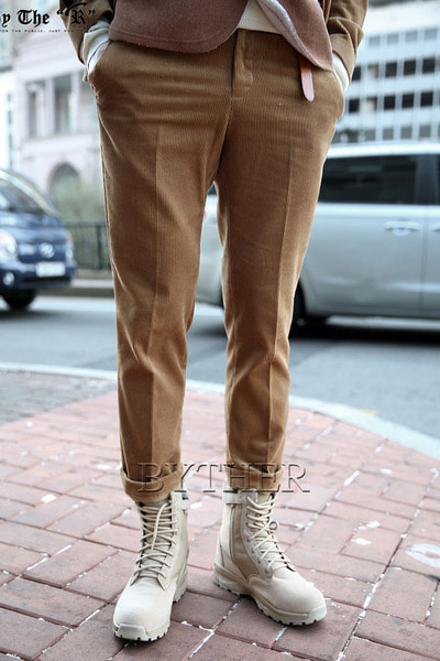 Corduroy Straight Slacks
