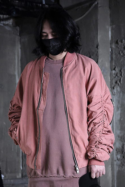 Pink Sherring Sleeve Flight Bomber