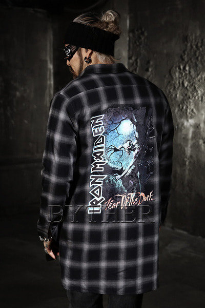 IronMaiden Long Check Shirts