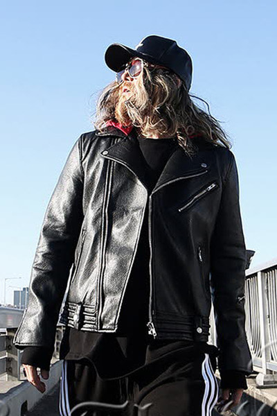 Red Hooded Rider Faux Leather Jacket