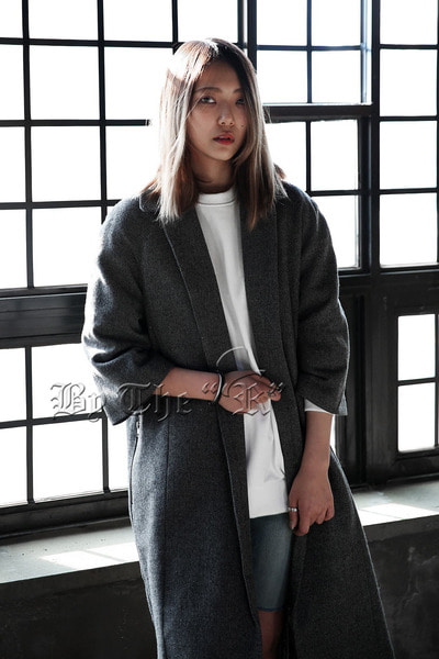Dark Gray Raglan Coat