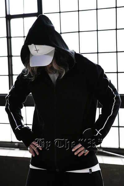 ByTheR X ProjectR Sleeve Cross Zip-up Hoodie