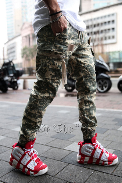 Digital Military Cargo Jogger Pants