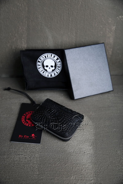 ByTheR Black Leather Zipper Wallet