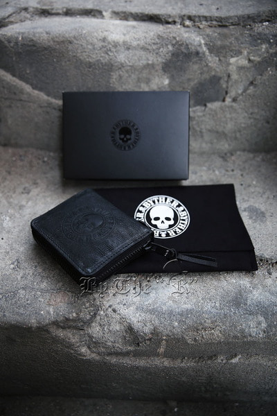 ByTheR Skull Logo Goat Leather Zip Around Wallet(Restock 11/29)