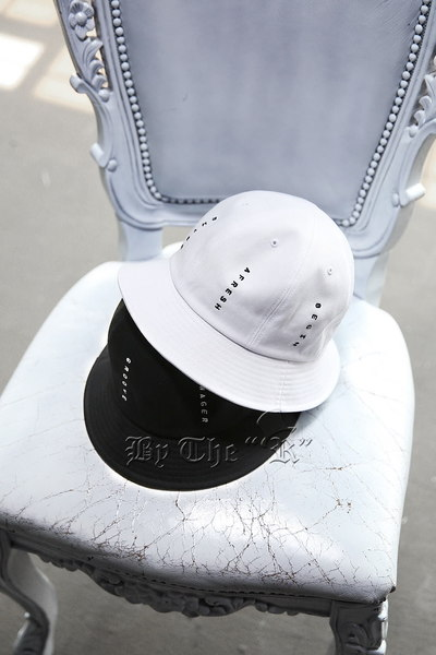 Embroidered long bucket hat