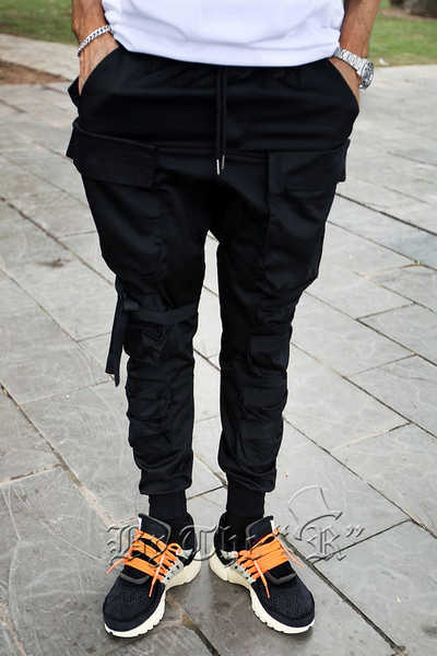 TechWear Multi Pocket Banding Jogger Pants