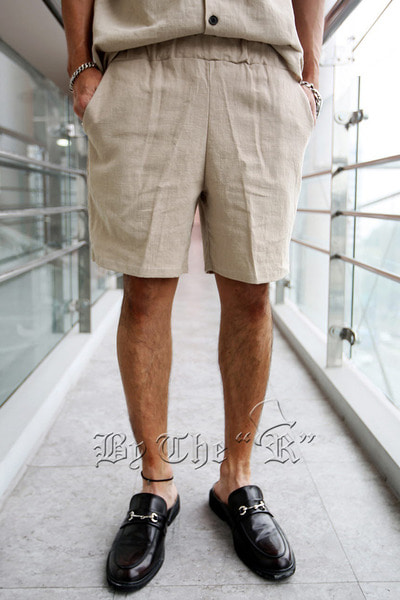 Linen Safari Banding Shorts