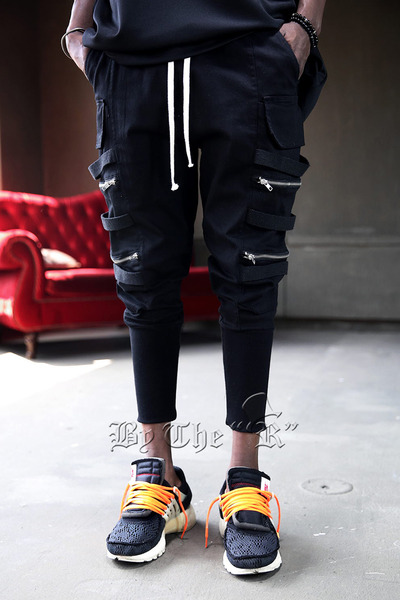 Double zipper Jogger Pants