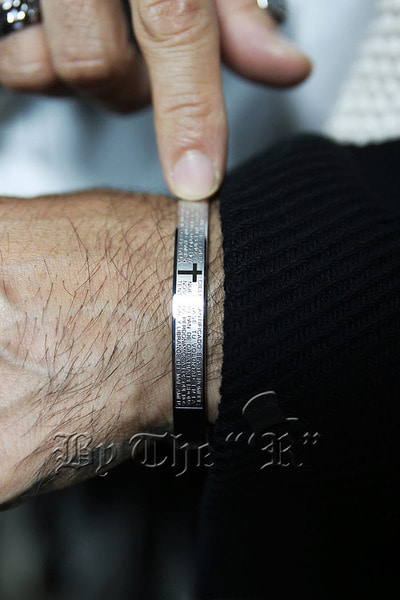 Cross Carving Paternoster Bangle Bracelet