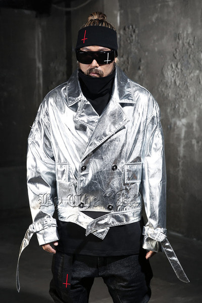ByTheR Metallic Double-Breasted Jacket