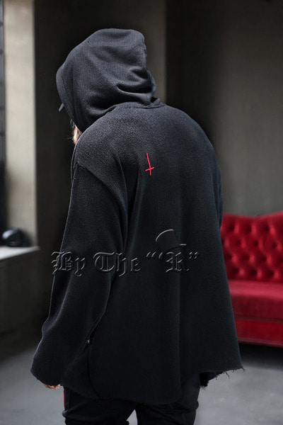 ProjectR Red Cross Embroidery Hoodie