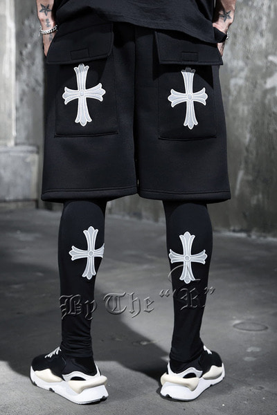 ByTheR Scotchlite Cross Embroidery Leggings