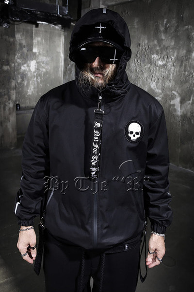 ByTheR Scotchlite Line Zip-up hooded Jacket