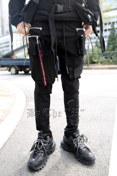 ByTheR Double Zipper Pocket Bending Pants