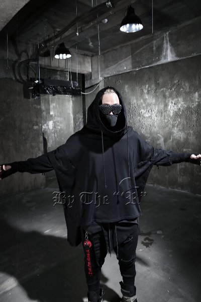 ByTheR Batwing Extra Sleeve Band Poncho Hoodie