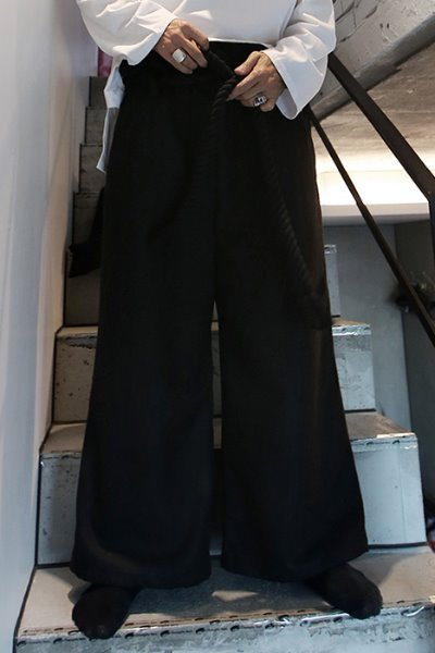 ByTheR Rope Belted Wide Baggy Pants