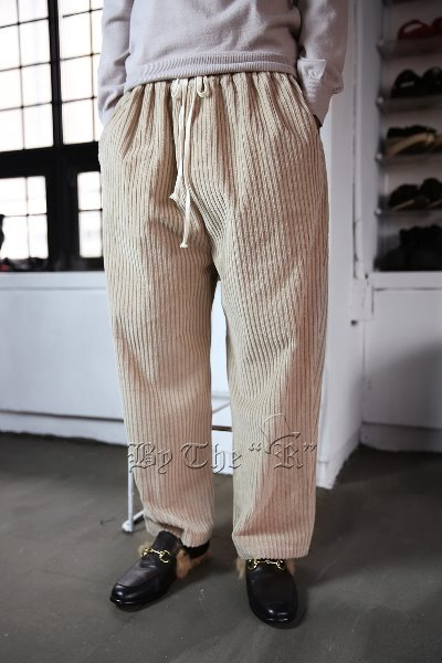 ByTheR Bold Corduroy Banding Wide Pants