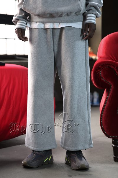ByTheR Cotton Napping Wide Pants
