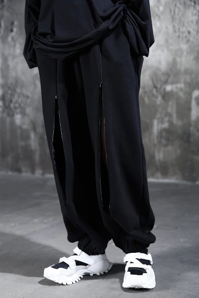 ByTheR Front Zipper Jogger Pants